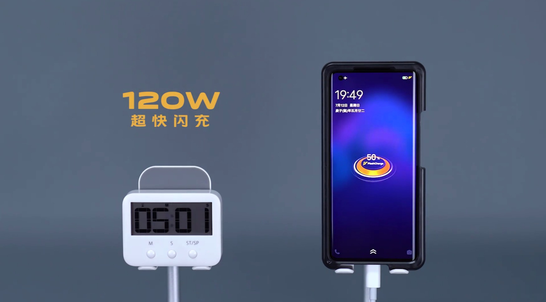 Vivo charge ultra rapide 120 W batterie