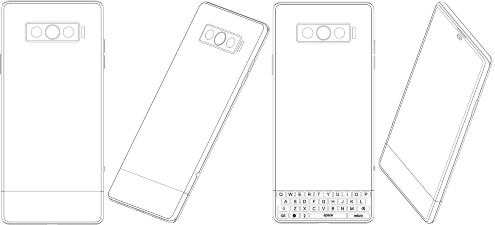 Vivo smartphone clavier physique et rotatif